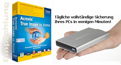Acronis True Image + Freecom HDDs